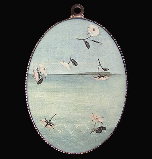 medaglione in porcellana particolare del dipinto
