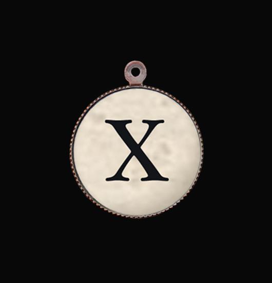 Lettera dell'alfabeto  X in porcellana da personalizzare il tuo regalo.