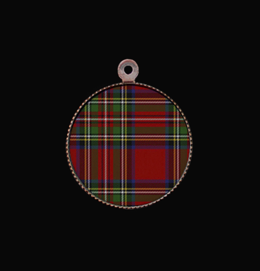 Medaglietta in porcellana scozzese. Personalizza i gioielli con questo ciondolo. Regalo di Natale