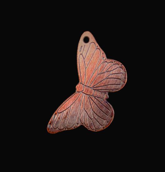 ciondolo in rame a forma di farfalla, regalo per amica, mamma, giardiniere
