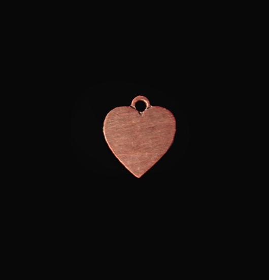 Piccolo cuore in rame. Ciondolo per personalizzazioni. Regalo per innamorati
