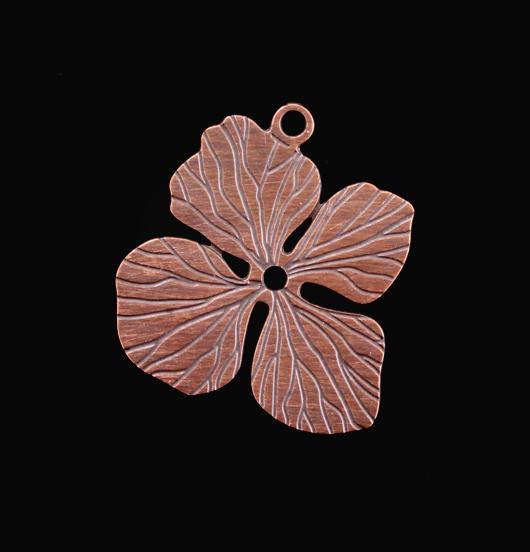 ciondolo in rame a forma di fiore di ortensia, regalo per mamma, giardiniere, amante natura