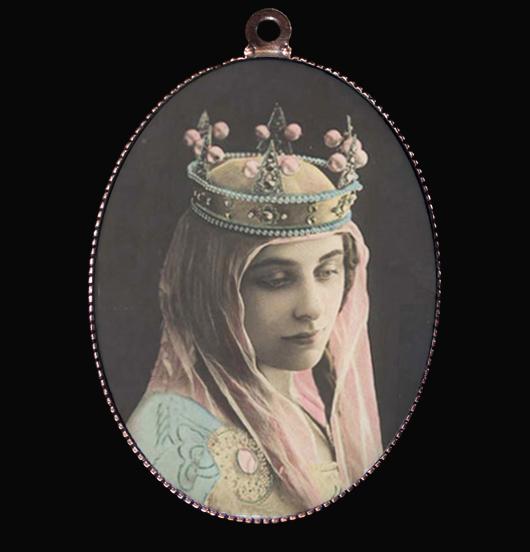 medaglione in porcellana con immagine Madonna, regalo per festa della mamma, tenerezza