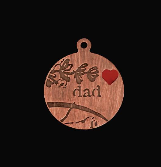 medaglietta dedicata al papà, festa del papà, regalo papà, regalo figlio