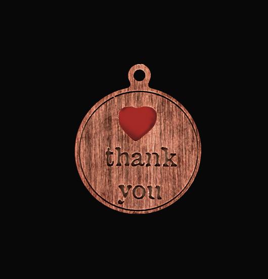 medaglietta in rame per ringraziare, regalo per dire grazie, regalo per mostrare riconoscenza