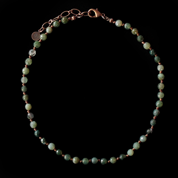collana bracciale in agata muschiata, girocollo personalizzabile con ciondoli, bracciale doppio giro personalizzabile, regalo unico, regalo compleanno