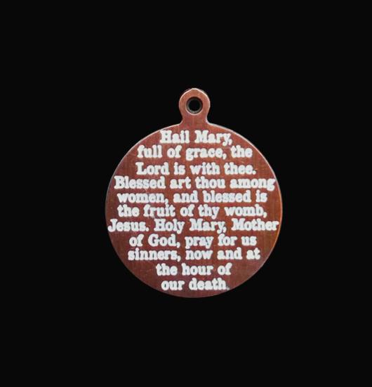 medaglietta in rame con preghiera ave maria incisa, regalo migliore amica, figlia, figlio, regalo protezione, regalo per prima comunione, regalo per cresima, regalo per battesimo