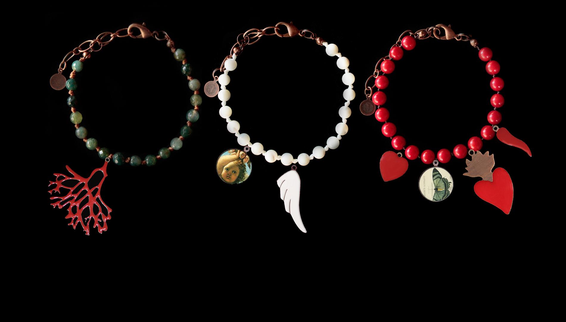 Scegli la collana, il bracciale, ecc...e componi il tuo gioiello scegliendo fra i nostri ciondoli<br>Noi te lo realizzeremo!