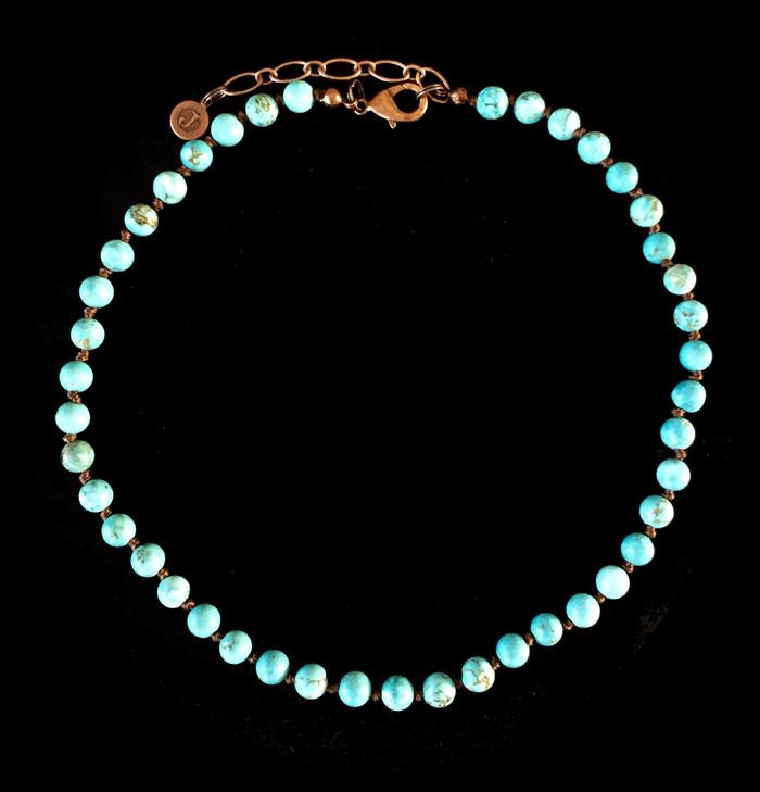 collana bracciale in howlite color avorio, collana base girocollo personalizzabile con ciondoli esclusivi, regalo personalizzato