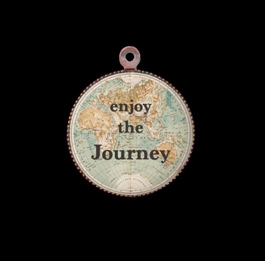Ciondolo in porcellana portafortuna, regalo di buon augurio per nuove avventure