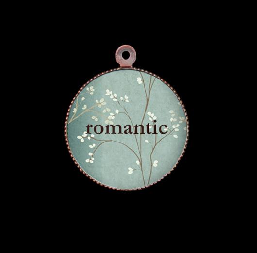 Ciondolo in porcellana per romantici, regalo per persone sensibili, gentili