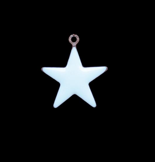 ciondolo a forma di stella smaltata azzurra, regalo per papà, mamma, maestra, miglior amica, nascita