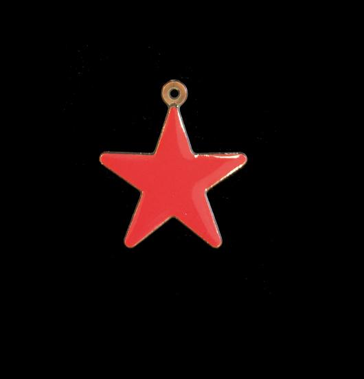 ciondolo a forma di stella smaltata rossa, regalo per papà, mamma, maestra, miglior amica