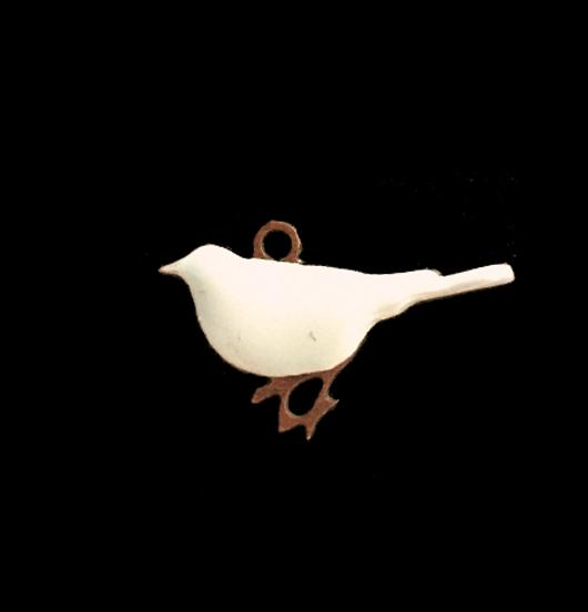 Ciondolo in rame a forma di uccellino per personalizzare collane e bracciali. Regalo per gli amanti della natura, regalo per bambino per personalizzare una collana o un bracciale o orecchini