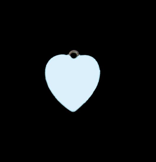 Cuore azzurro in rame smaltato piccolo. Regalo per battesimo, nascita, comunione, bambina. Adatto a personalizzare collane e bracciali.