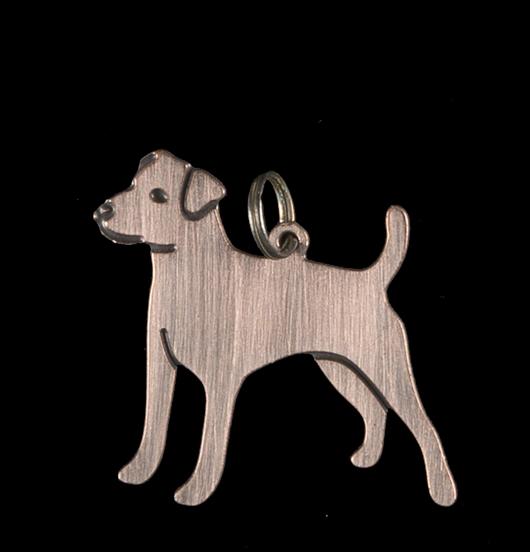 ciondolo in rame a forma di cane, regalo per amica, mamma, giardiniere, amico