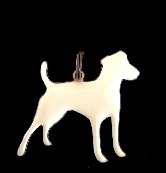ciondolo in rame smaltato a forma di cane, regalo per amica, mamma, giardiniere, amico