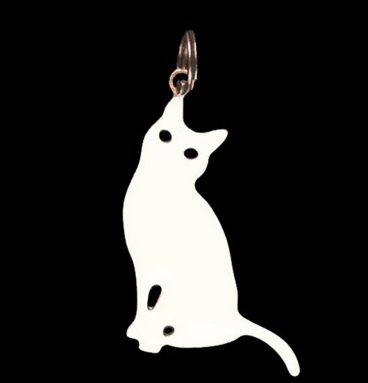 ciondolo in rame a forma di gatto, regalo per amica, mamma, giardiniere, amico